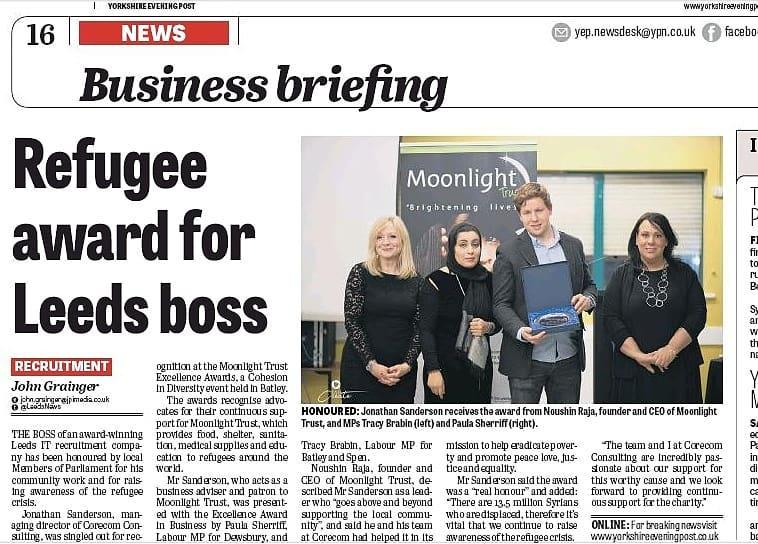 Refugee Award for Leeds boss