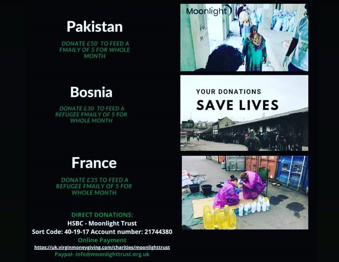Ramadan Appeal for Bosnia, Palestine, France, Pakistan and the UK
